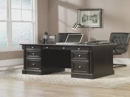Edgewater Computer Desk Sauder Edge Water Executive Desk Estate Black Hayneedle