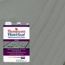 thompson u0027s waterseal 1 gal solid coastal gray waterproofing stain