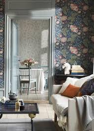 Wallpaper Livingroom by Ava Wallpaper From Sandberg 400 86 Dark Blue Behang En
