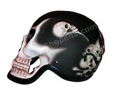 motocross helmet mohawk reaper 3d skull matte black helmet