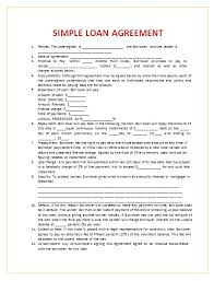 business loan agreement loan contract and agreement template
