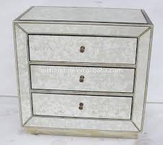 Silver Mirrored Nightstand Antique Mirrored Nightstand