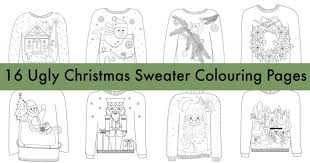 16 ugly christmas sweater coloring pages u2013 indie crafts