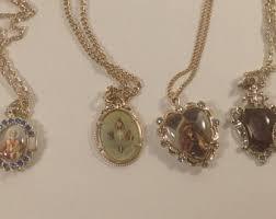 catholic necklaces vintage catholic jewelry etsy