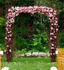 wedding arch used the nettleton hollow birch wedding arch