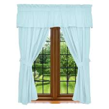window curtain set 5 piece set includes 2 panels 1 valance u0026 2
