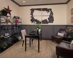 wooden wall diy home office contemporary with brown leather