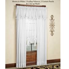 Antique Satin Valances by Lucky Stripe Sheer Window Treatments