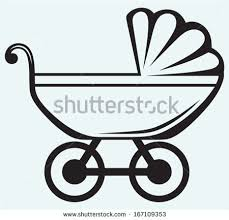 silhouette baby carriage layette stock vector 506357638 shutterstock