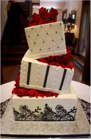 black lace wedding cake with wedge separators cup a dee cakes llc