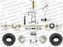 roketa atv 04wc rear wheel assembly parts