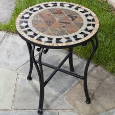 Patio Side Tables Metal Impressive Outdoor Patio Side Tables Small Outdoor Metal Side With