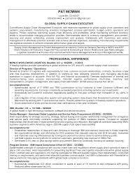 logistics manager sample resume