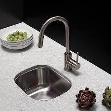 Kitchen Sinks Stainless Steel by Kraus Kbu16 15 Inch Undermount Single Bowl 18 Gauge Stainless