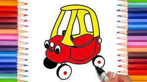 draw car kids draw toy car coloring