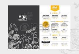 vector restaurant brochure menu design vector cafe template