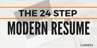 contemporary resume header and footer the 24 step modern resume ladders