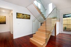 Glass Banisters For Stairs Glass Staircase Balustrades In Melbourne Totally Frameless