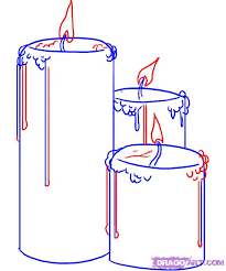 how to draw candles step by step stuff pop culture free online