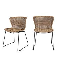 chaise tress e 2x chaises en résine tressé wings de drawer fr