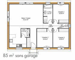 plan maison gratuit plain pied 3 chambres modele de plan maison top free modele de maison en t modele de