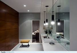 Modern Bathroom Lights Contemporary Black Pendant Lights For Modern Bathroom Design With