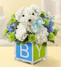 dog flower arrangement baby boy a dog able flower shop florist in rapid city sd