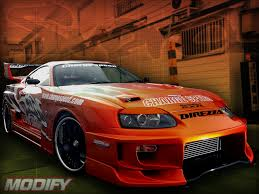modified cars wallpapers orange toyota supra modify car wallpaper hd 2012