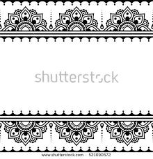 mehndi indian henna tattoo design greetings stock vector 521090572