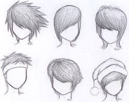 how to draw anime boy hair step by step for beginners google