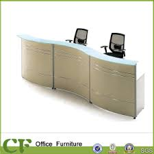 Small Reception Desk China Wood Office Small Reception Desk With Glass Top China