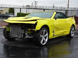 wrecked camaro zl1 for sale front damage 2017 chevrolet camaro convertible ss repairable
