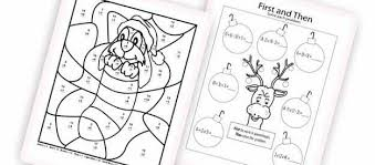 free christmas math worksheets for kids mreichert kids worksheets