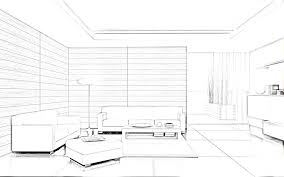 sketch room living room interior design sketches