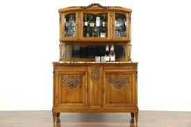 Cabinet Top French Antique Carved Sideboard U0026 China Cabinet Marble Top