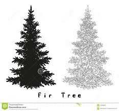 christmas tree silhouette contours and stock vector image 52556853