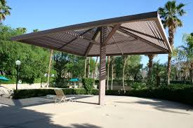 Backyard Shade Canopy by Outdoor U0026 Landscaping Chic Single Column Sloping Roofing Outdoor