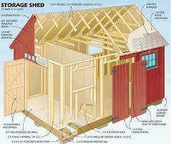 36 best storage shed plans images on pinterest storage shed