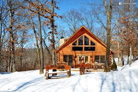 Two Story Log Homes Glamping Cabin Ozarks