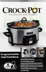 largest crock pot save on crockpot 6 quart programmable slow