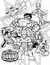 super hero squad coloring superheroes coloring pages