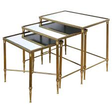 Nesting Dining Table Mid Century Modern Italian Brass Nesting Tables Maison Jansen