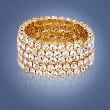 swarovski crystal gold plated bracelet images Janeo jewels jpg