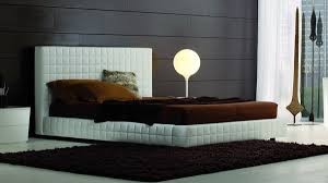 Leather Platform Bed White Leather Platform Bed By Rossetto 2 Sizes Available