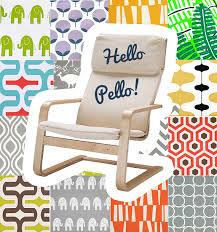 Pello Armchair Review Custom Ikea Pello Slip Cover Multiple Prints