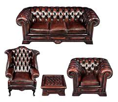 Leather Chesterfield Armchair Chesterfield Suite In Red Leather