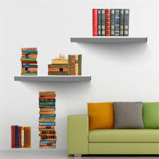 aliexpress com buy book bookshelf removable wall sticker tv