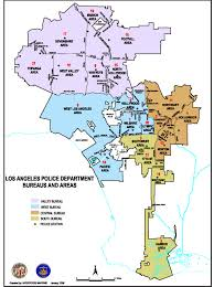 Map Of Greater Los Angeles Area by Lapd Divisional Map Los Angeles Police Department Wilshire Division