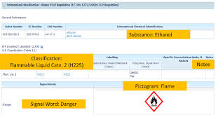 hazardous materials classification table annex vi to clp list of harmonised classification and labelling for