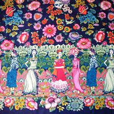 1m frida la catrina fabric alexander henry per metre frida kahlo